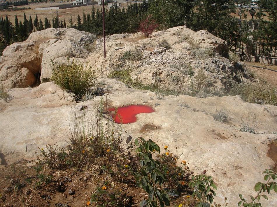 Bild einer Landschaft mit Pfütze in Form eines Herzens. Foto: Iman Al Hasbani