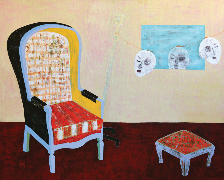 Rashwan Abdelbaki, Malerei, Acryl auf Leinwand, Originalgröße 120 x 150 cm; Mit freundlicher Genehmigung der Montaro 12 Art Gallery,Rome, Italy