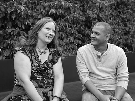 Galal Alhamadi und Tanja Dückers. Foto: Stefanie Kulisch