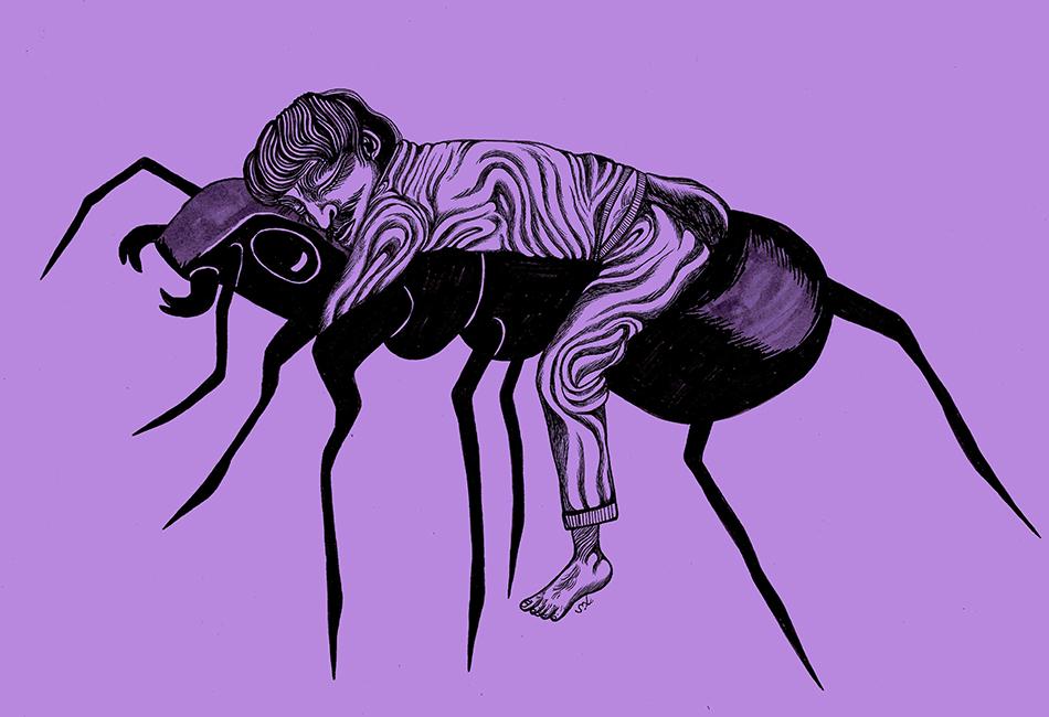 Bild einer Ameise mit Mensch von Moshtari Hilal (2019) für Weiter Schreiben