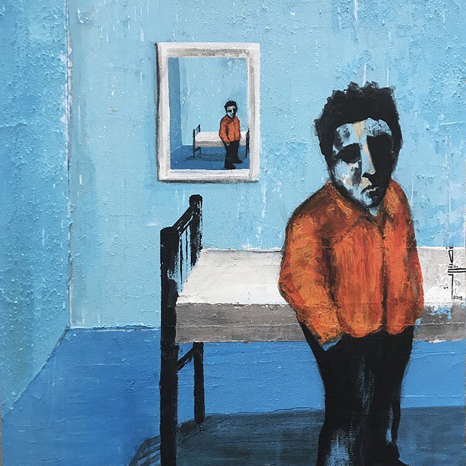 Omar Nossirat, Mixed Media on canvas, 80X65cm, (2019)