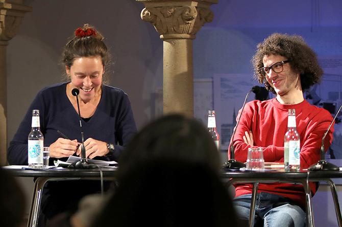 Ramy Al-Asheq und Monika Rinck bei der LIT:potsdam 2020