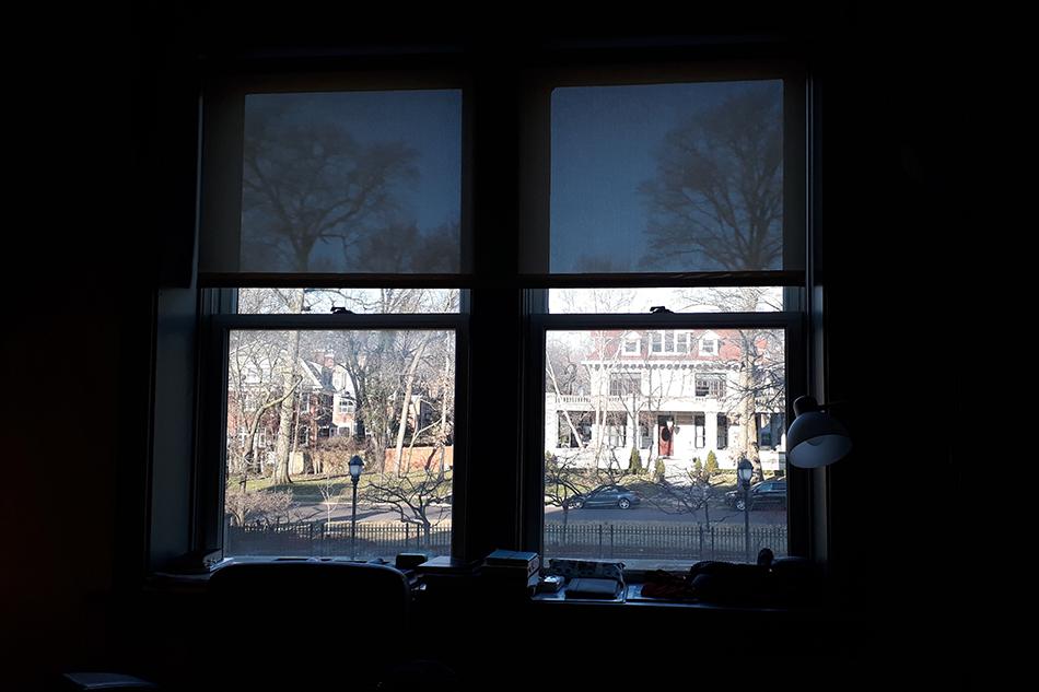 Blick aus dem Fenster von Monika Rinck in St. Louis, USA © Monika Rinck