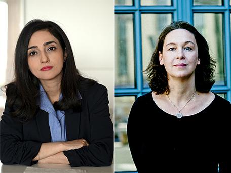 Pegah Ahmadi und Monika Rinck. © Almuth Elhardt und Gene Glover